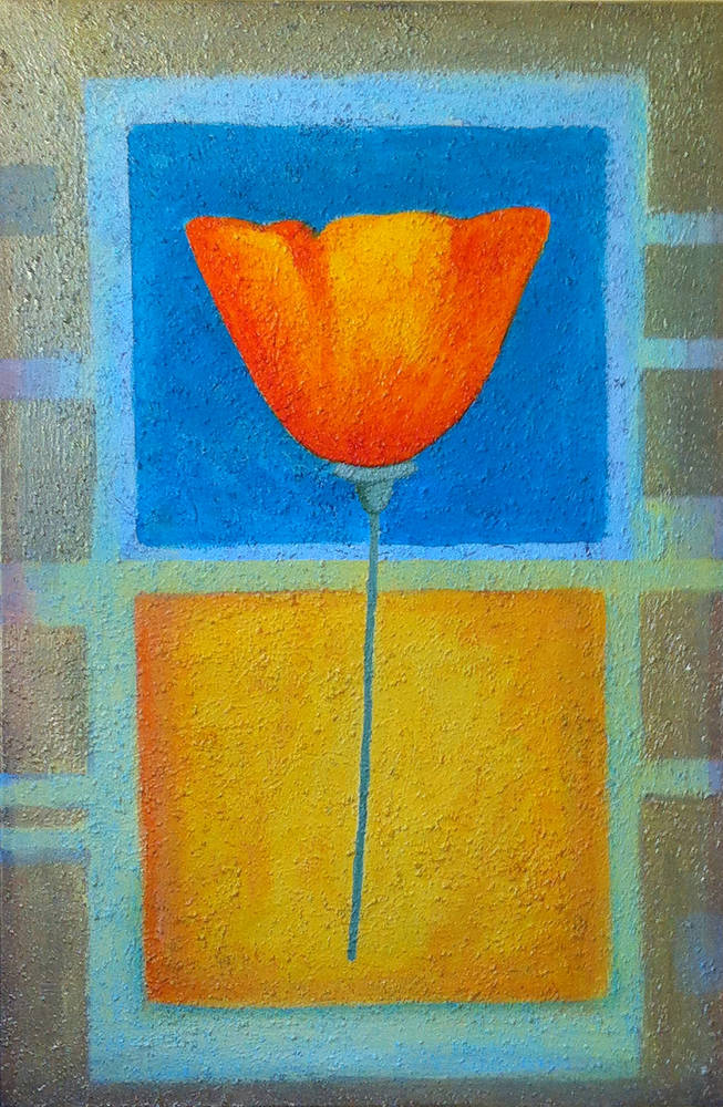 Acrylic painting Perfect Poppy by Allyson Malek
