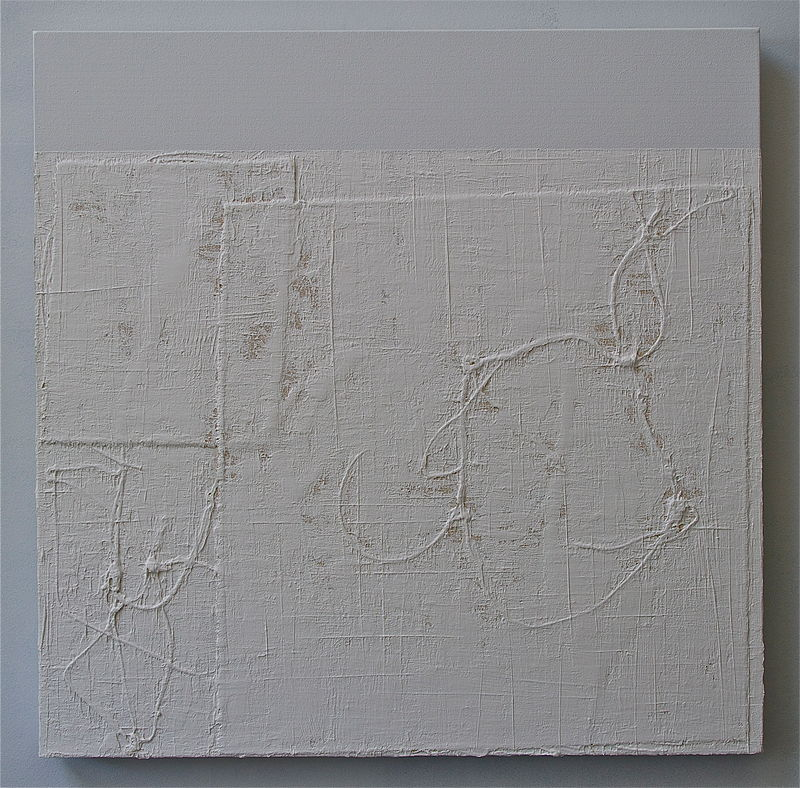 "Acrylic painting WHITE: 2010. 30"" x 30"" by John Turner"