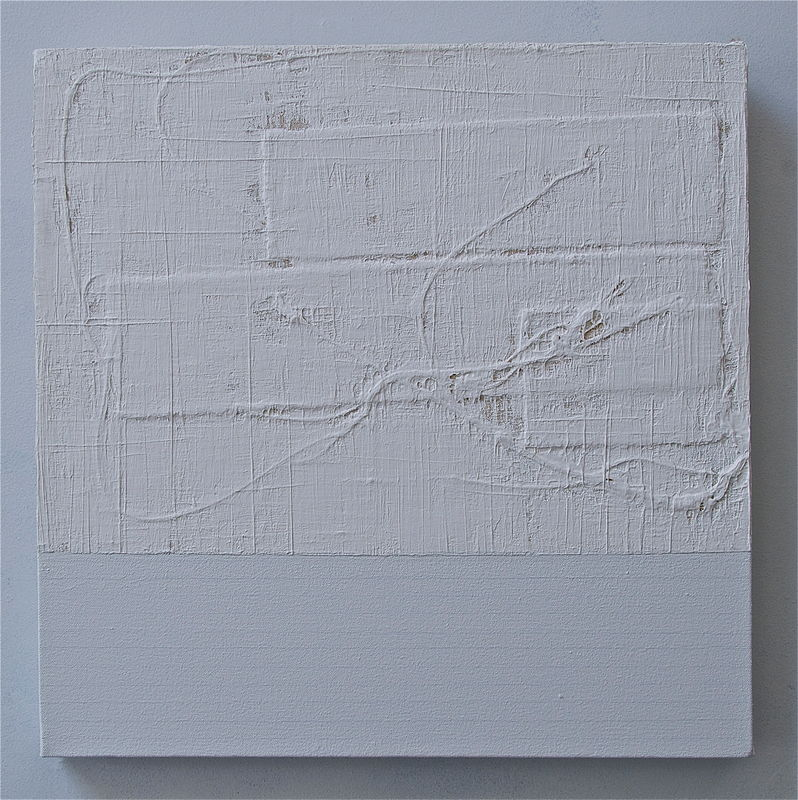 "Acrylic painting WHITE: 2009. 20"" x 20"" by John Turner"