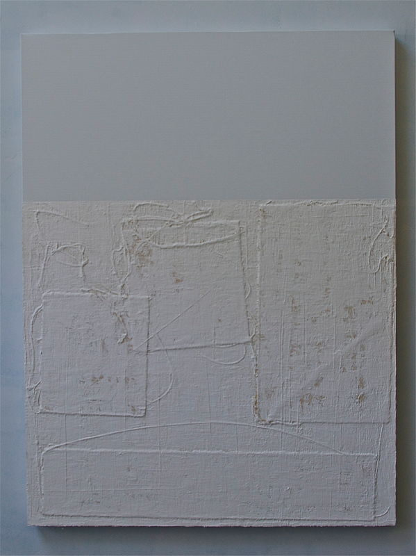 "Acrylic painting WHITE: 2009. 36"" x 48"" by John Turner"