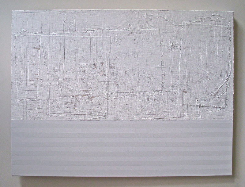 "Acrylic painting WHITE: 2009. 36"" x 48""   SOLD by John Turner"