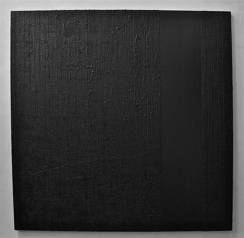 "Acrylic painting #1. Black, Black (Gigi): 2010. 72""x 72"" by John Turner"