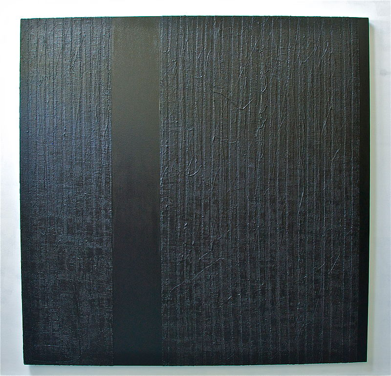 "Acrylic painting #2. Black, Black: 2010. 72""x 72"" by Suzanne Turner"