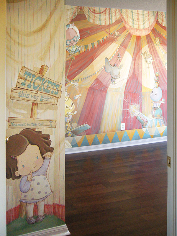Painting CIRCUS MURAL - Entrance by Cindy Scaife