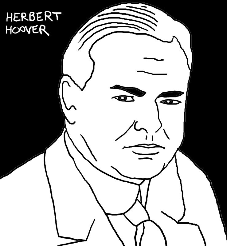 Herbert Hoover by Phil Cummings