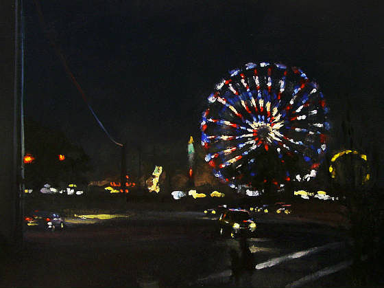 Oil painting Night Carnival by Noah Verrier