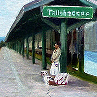 Oil painting Train Tracks of Tallahassee by Noah Verrier