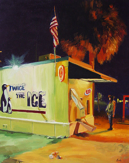 Oil painting Twice the Ice by Noah Verrier