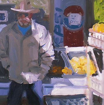 Oil painting Fruit Man by Noah Verrier