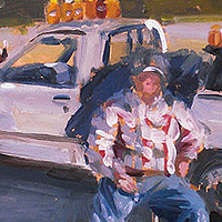 Oil painting Honey Man II by Noah Verrier