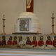 igloo themed alter with beaded apostle banner by Belinda Harrow