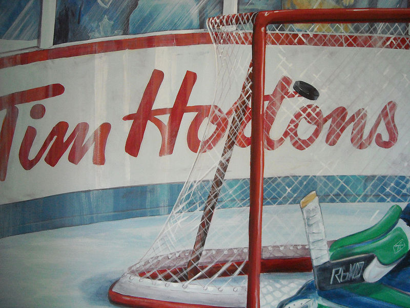 Painting Hockey Mural - Hockey Net and Boards Detail Image by Cindy Scaife
