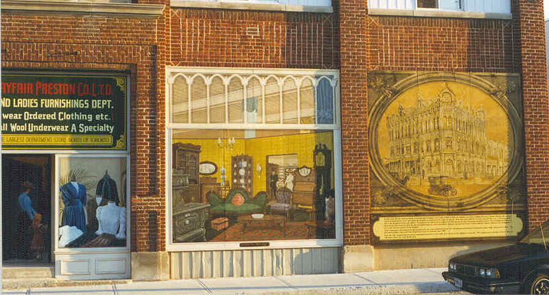 Playfair Preston Building - Original Mural Image by Cindy Scaife