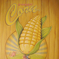 Acrylic painting Sweet Corn by Cindy Scaife
