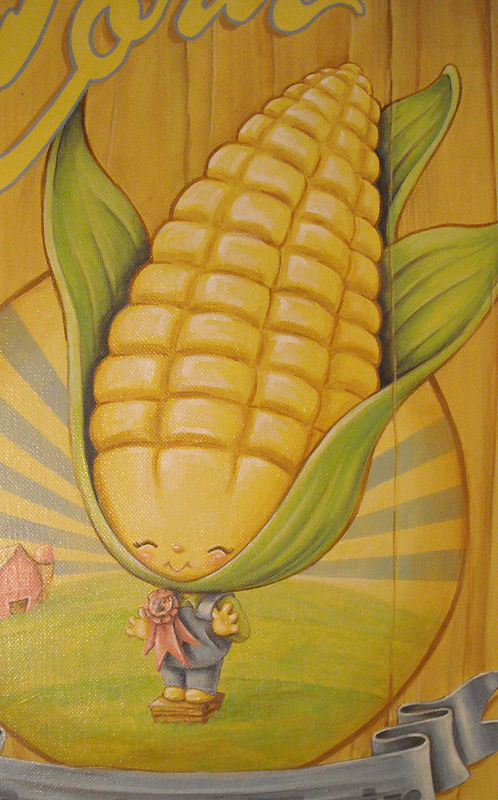 Acrylic painting Sweet Corn - Detail by Cindy Scaife