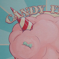 Acrylic painting Candy Floss by Cindy Scaife