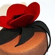 Poppy felt cocktail hat 2 by Fiona Menzies