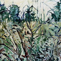Acrylic painting  Forage  by Edie Marshall