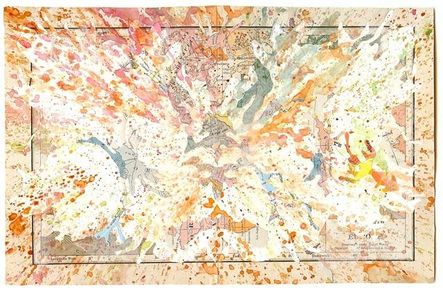 Watercolor Racial Map by Mark Garrett
