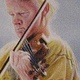 Oil painting The Violinist, Paul MacNaughton by Judith  Elsasser