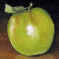 Oil painting An Apple a Day by Judith  Elsasser
