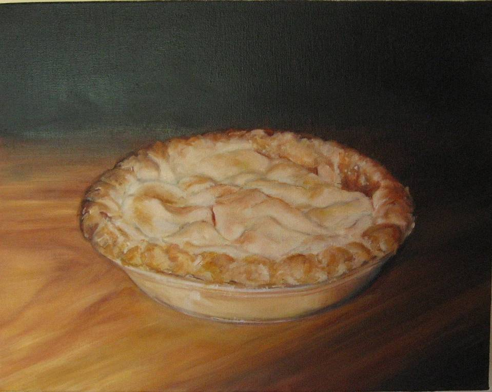 Oil painting Ma's Apple Pie by Judith  Elsasser