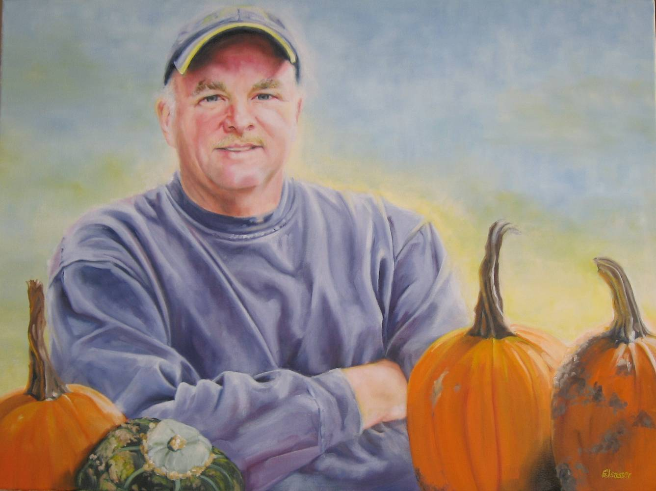 Oil painting Larry Saltarski by Judith  Elsasser