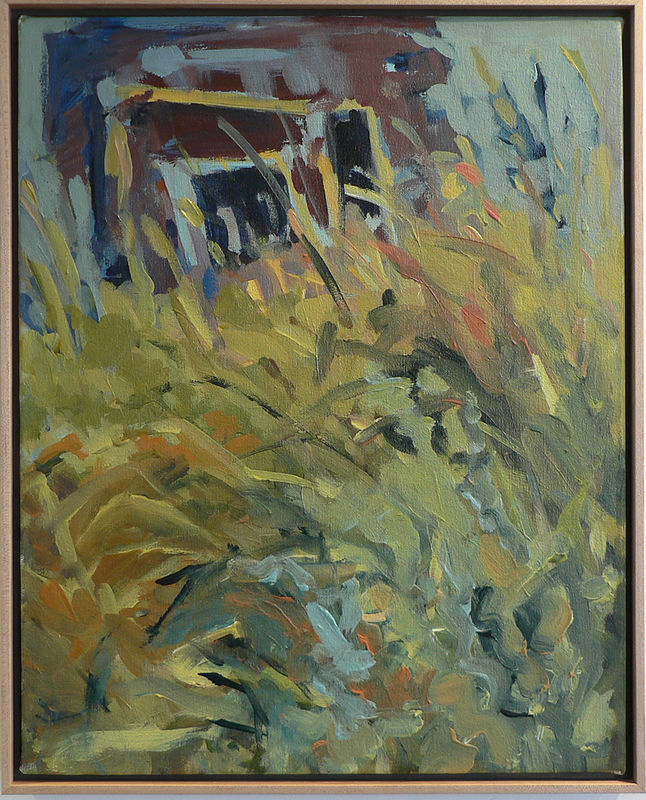 Acrylic painting Open house by Edie Marshall