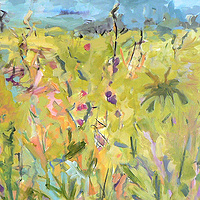Acrylic painting  Nodding Grass by Edie Marshall