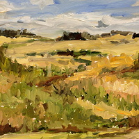 Oil painting The Coulee by Edie Marshall