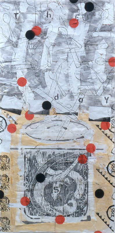 Mixed-media artwork The Days #2 by Judy Southerland