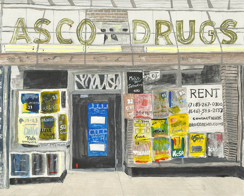 Acrylic painting missing T drugs by anthony Ziegler