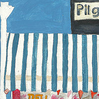 Acrylic painting pilgrim market by anthony Ziegler