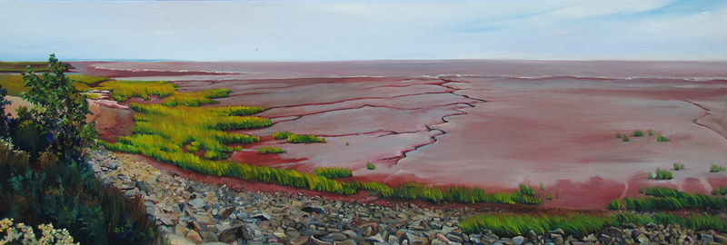 Oil painting Tidal Markings by Michael McEwing