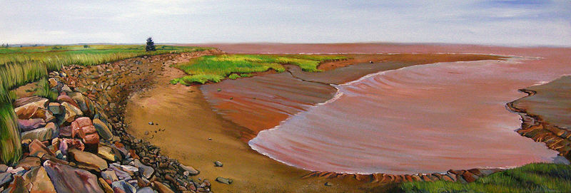 Oil painting Receding Tide by Michael McEwing