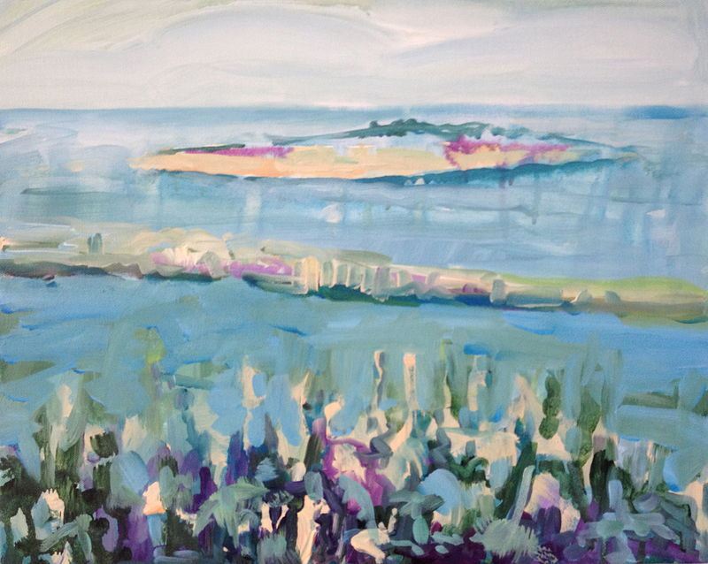 Acrylic painting Water Island  by Edie Marshall