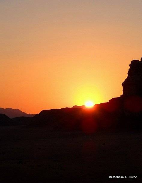 [Earth] Sunset at Wadi Rum by Melissa Owoc