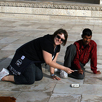 helping grout the Taj Mahal! by Belinda Harrow