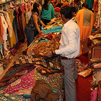 sari shop in Jaipur by Belinda Harrow