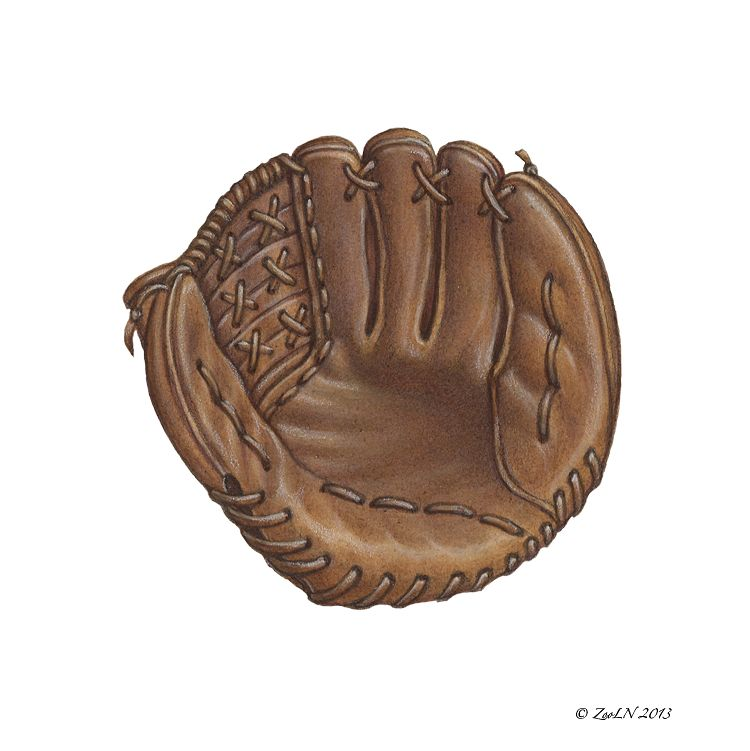 Print Baseball Glove by Sue Ellen Brown
