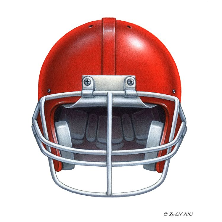 Print Football Helmet by Sue Ellen Brown