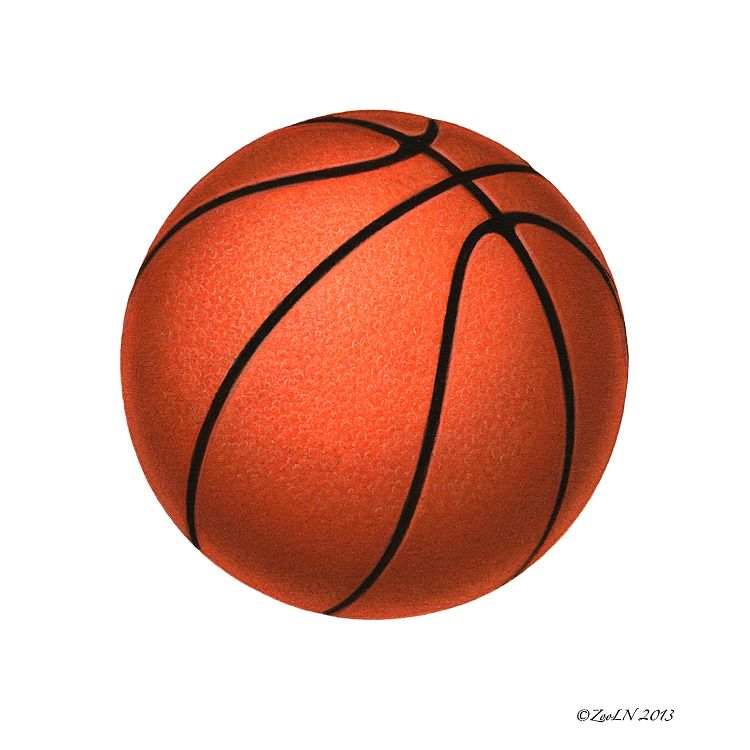 Print Basketball by Sue Ellen Brown