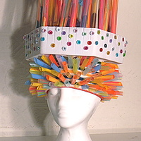 Tapioca Straws and Ornament Box Wig by David Faulk
