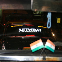 Mumbai black taxi by Belinda Harrow