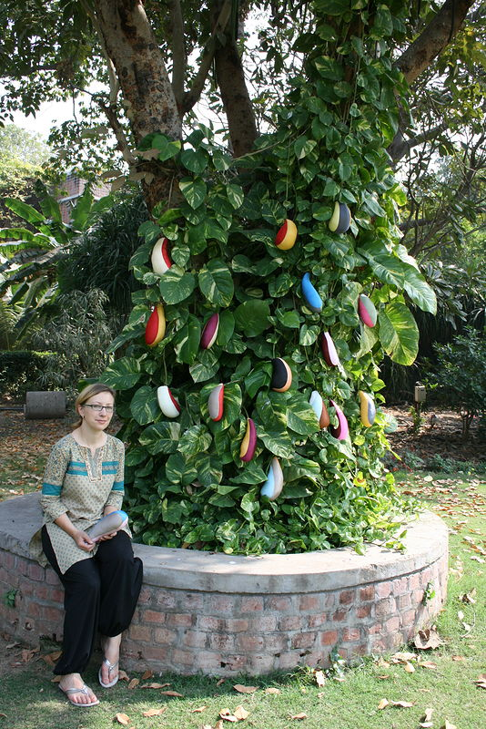exchange student from Germany who was in my workshop and her finished installation by Belinda Harrow