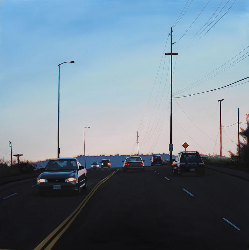 Oil painting Holgate Evening/Ride Strong by Shawn Demarest