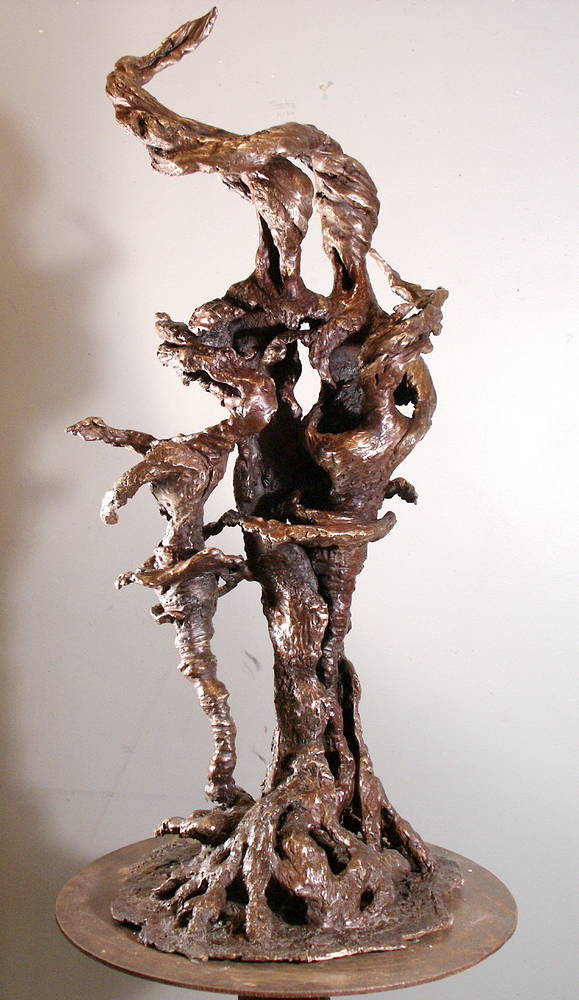 Rooted Family Maquette by Jonathan  Hertzel