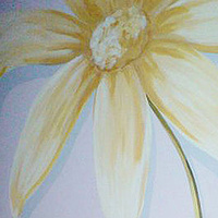 Painting Large scale Flower mural - Detail Image by Cindy Scaife