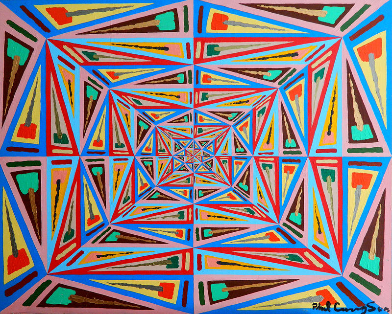 Acrylic painting Linear Abstract by Phil Cummings