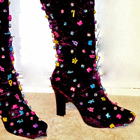 Purple Glitter Boots by David Faulk